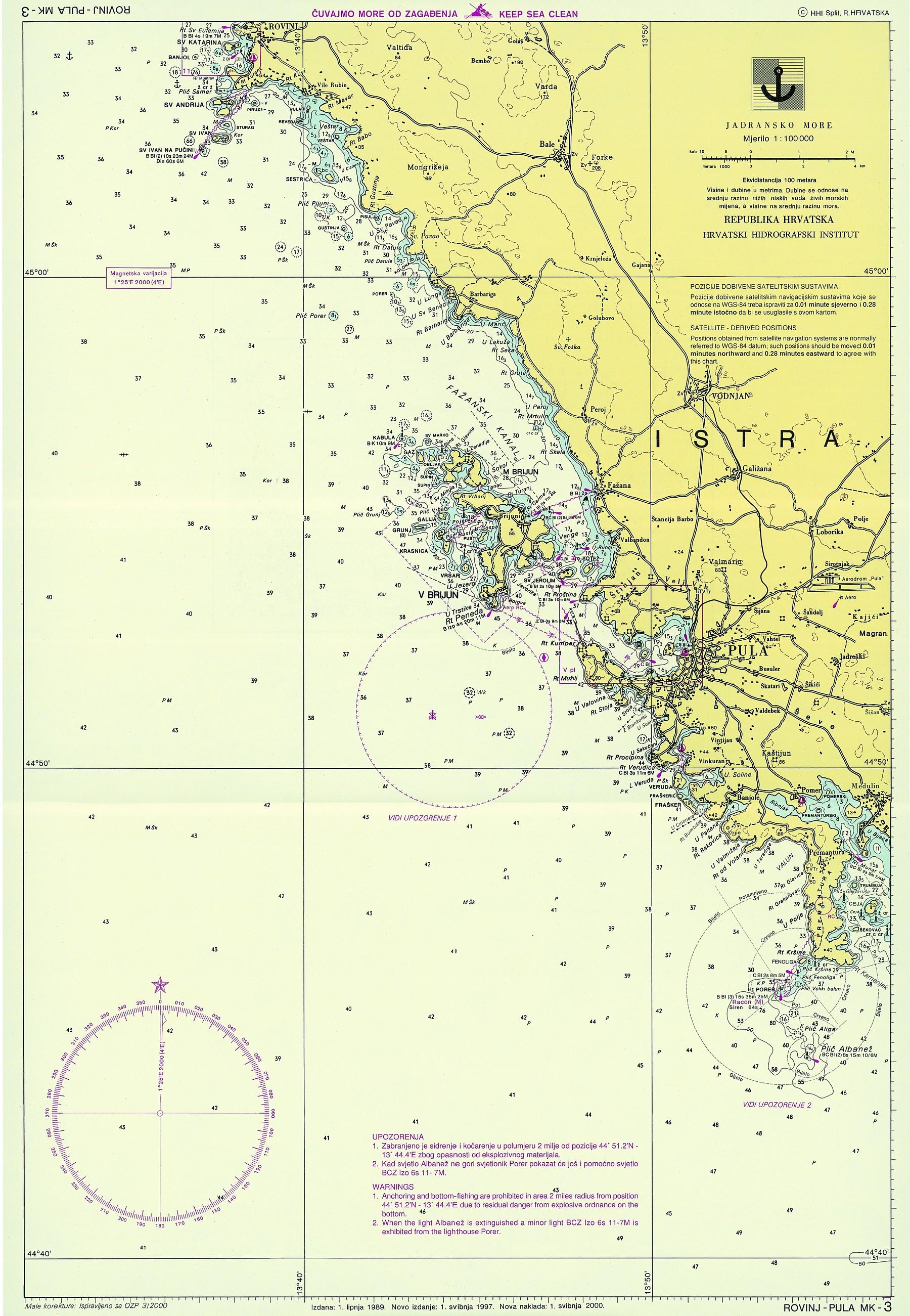 Nautische Karten In Kroatien Vakance Charter