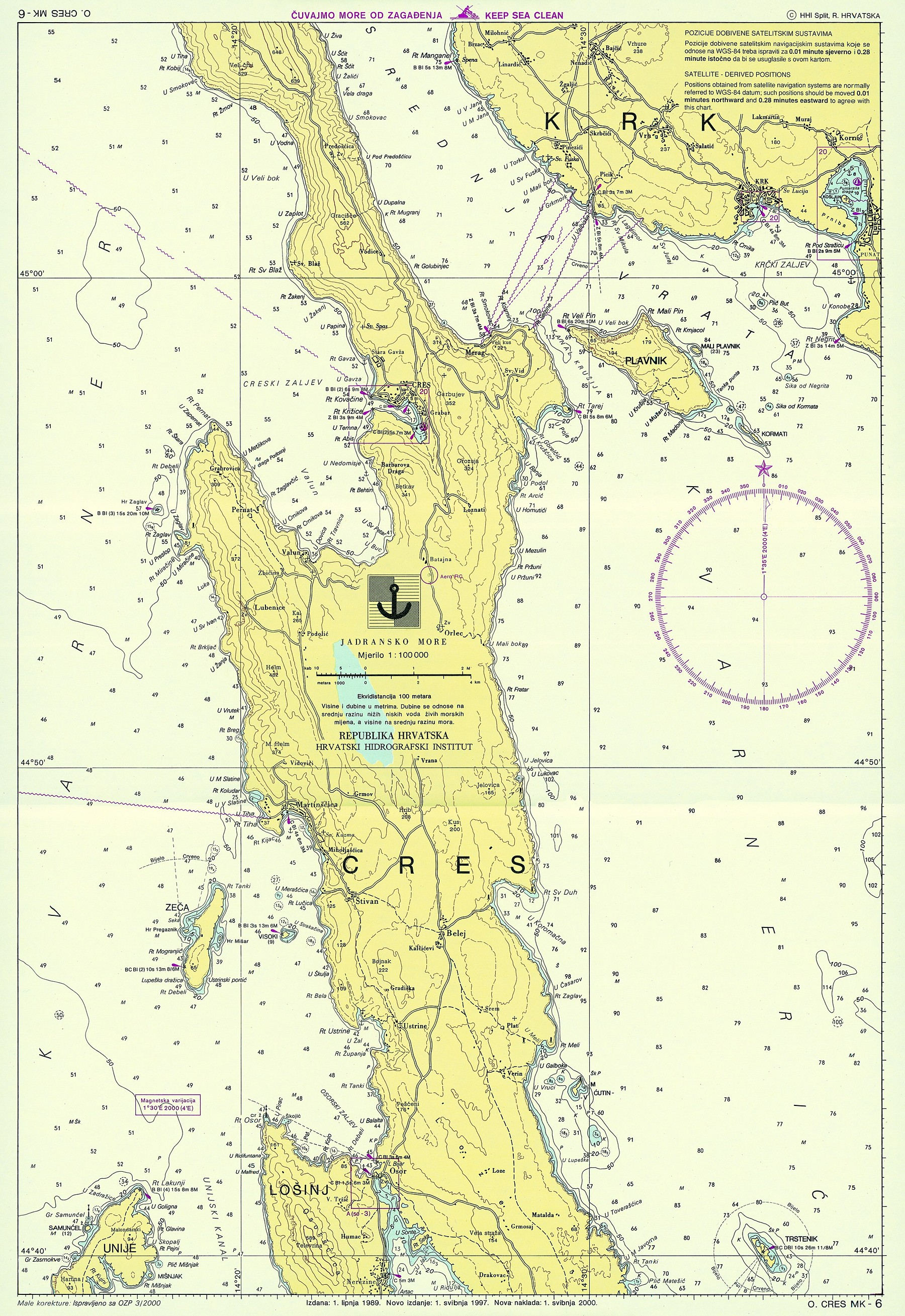 Croatian nautical maps - Vakance charter