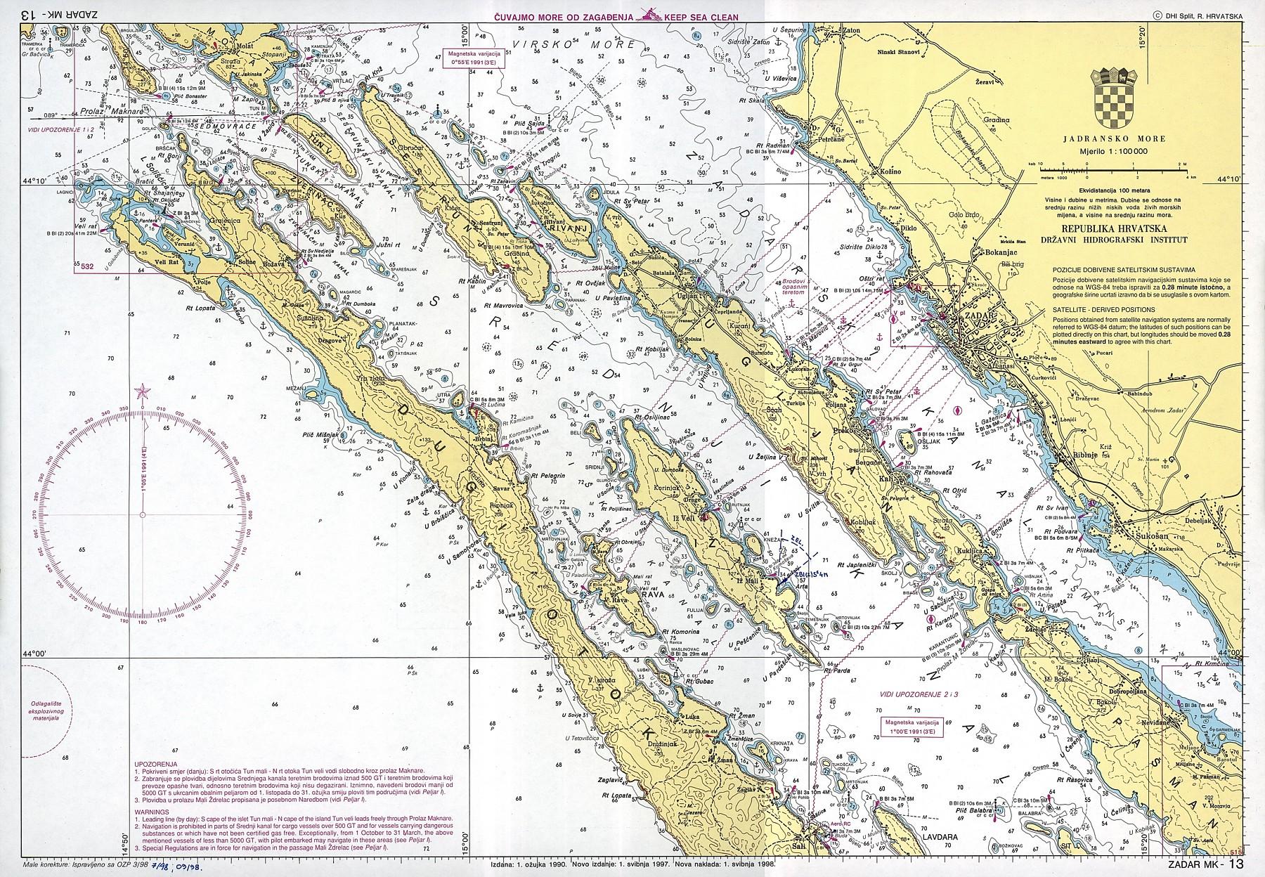 Croatian nautical maps - Vakance charter