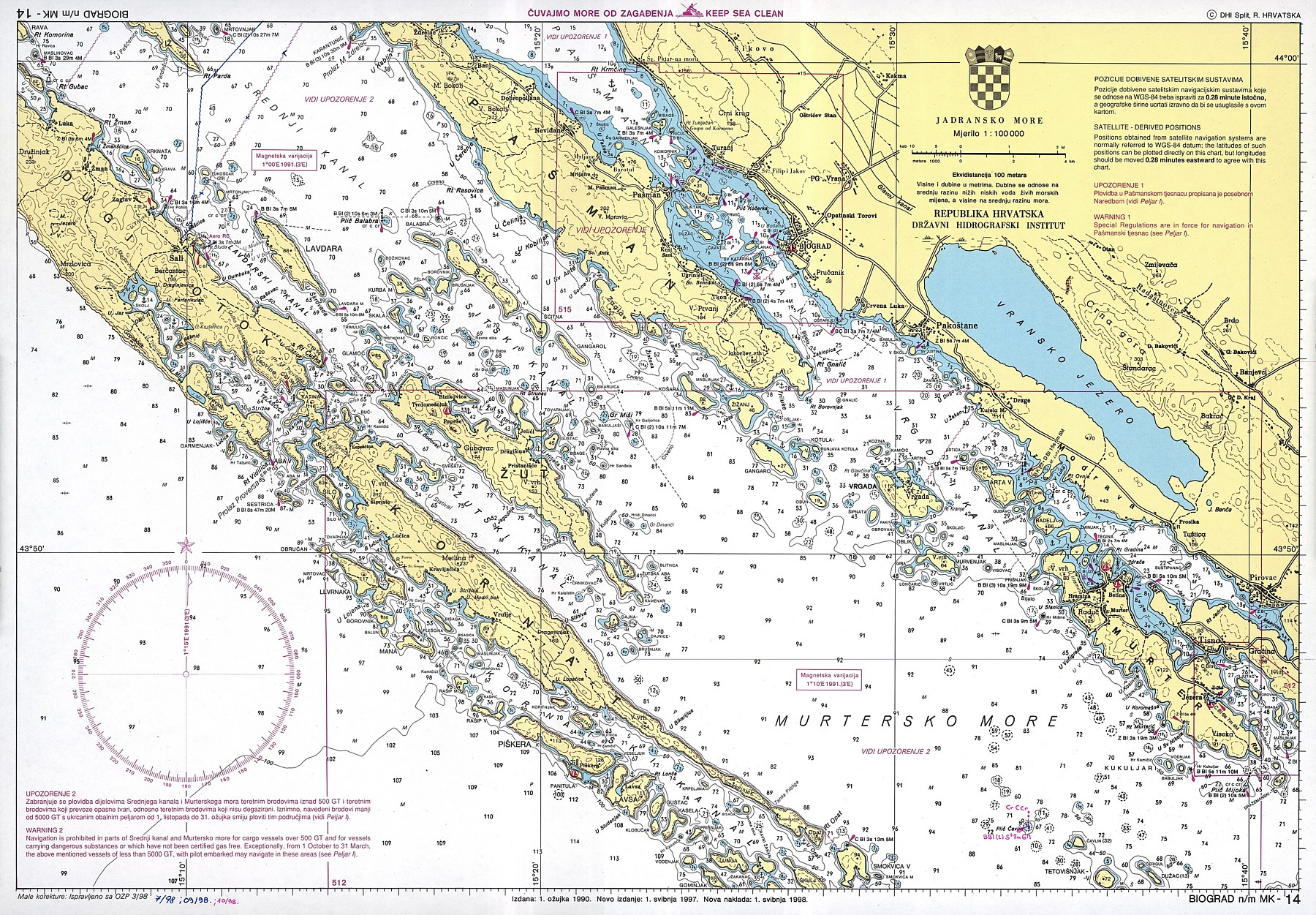 Croatian nautical maps  Vakance charter