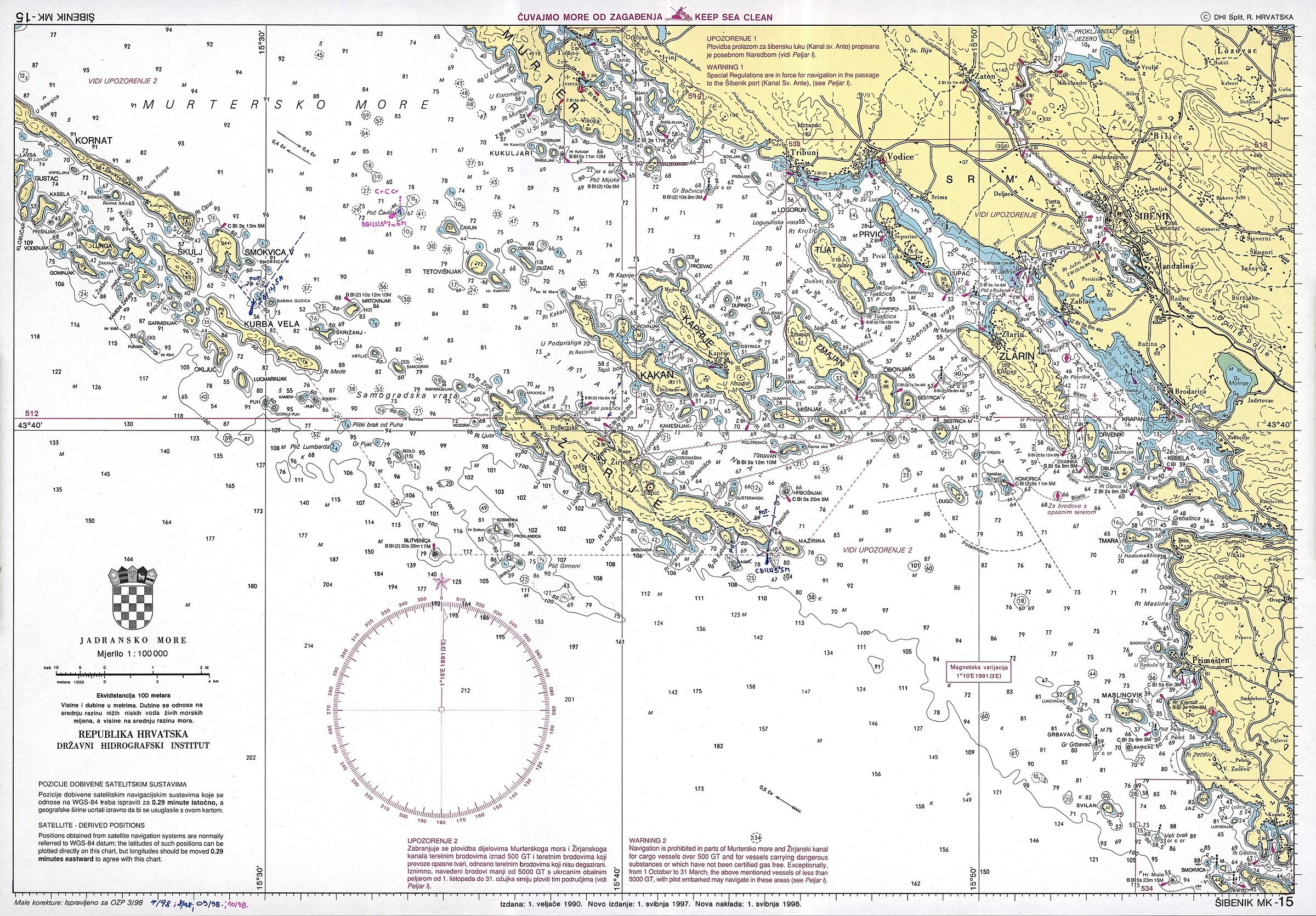 Carte Nautiche In Croazia Vakance Charter