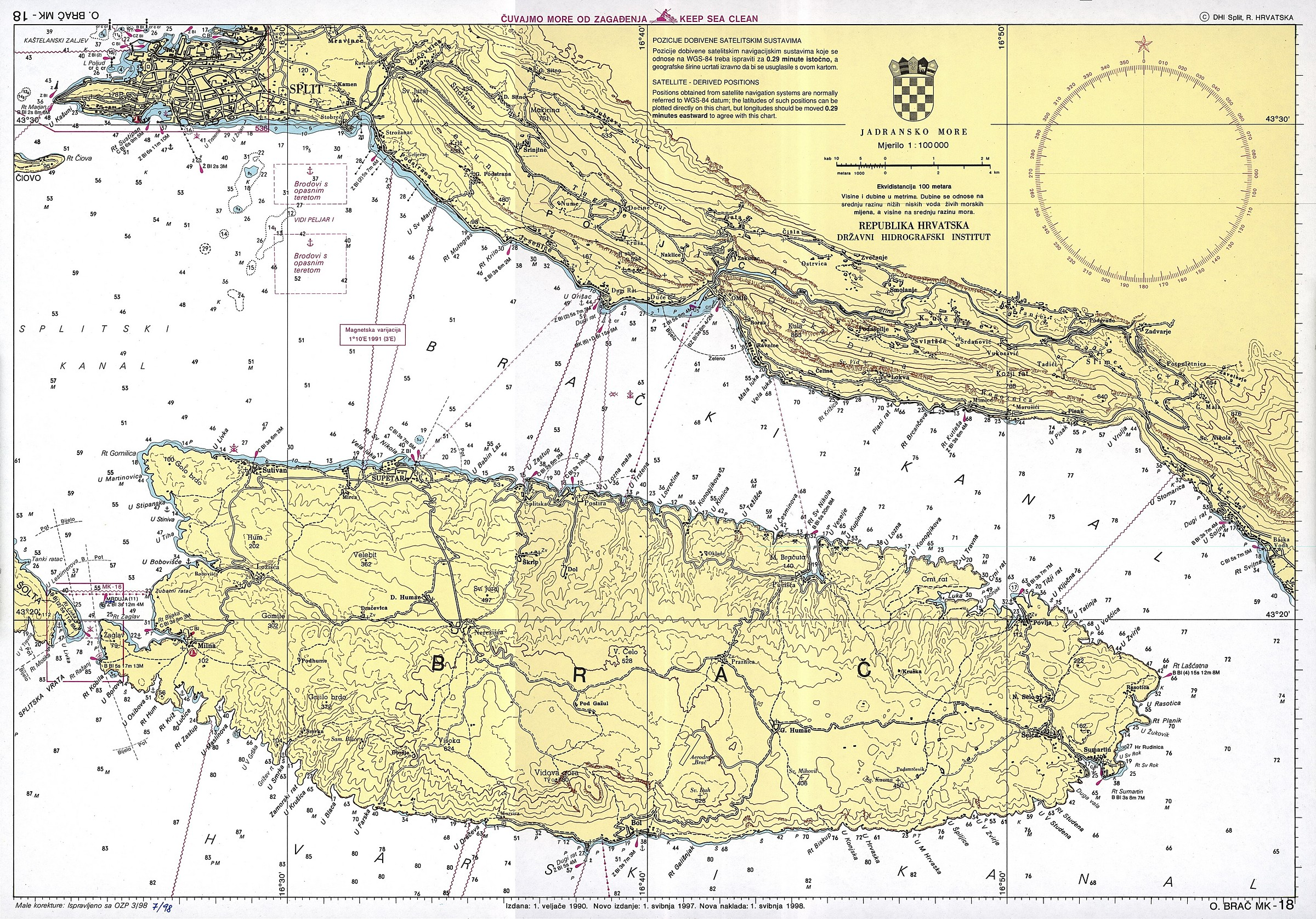 Cartes maritimes en Croatie   Vakance charter