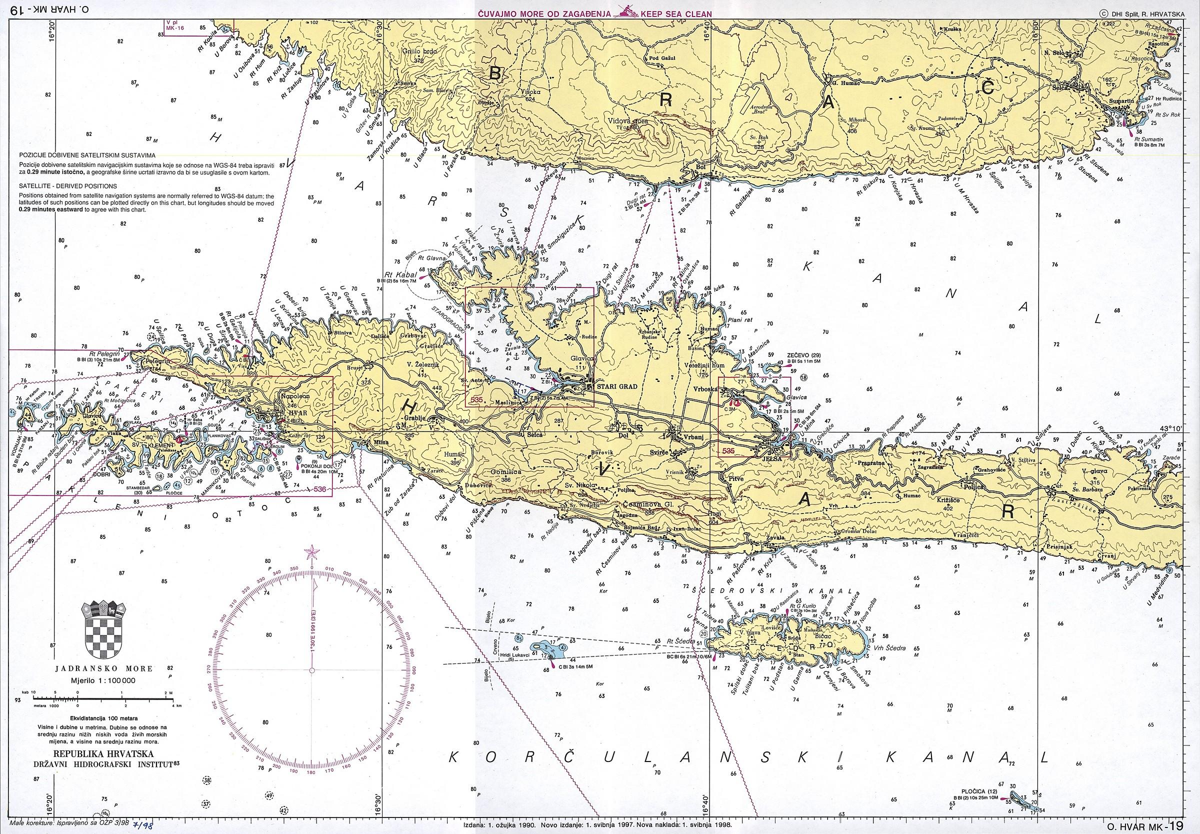 nautische karten in kroatien vakance charter. Black Bedroom Furniture Sets. Home Design Ideas