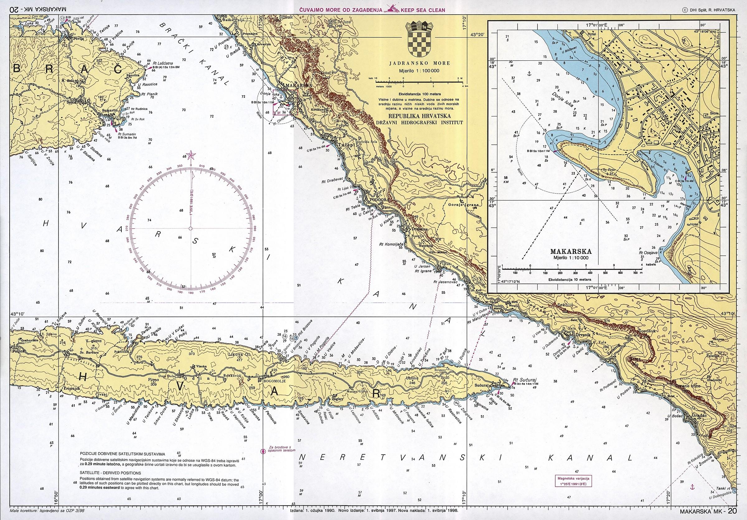 chorwacki morskich map vakance charter. Black Bedroom Furniture Sets. Home Design Ideas