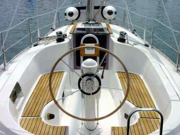 Sailing boat. Captains view