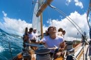 L'equipaggio in una barca a vela