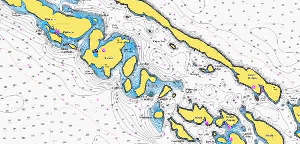 Karte Istrien Kroatien.Nautische Karten In Kroatien Vakance Charter